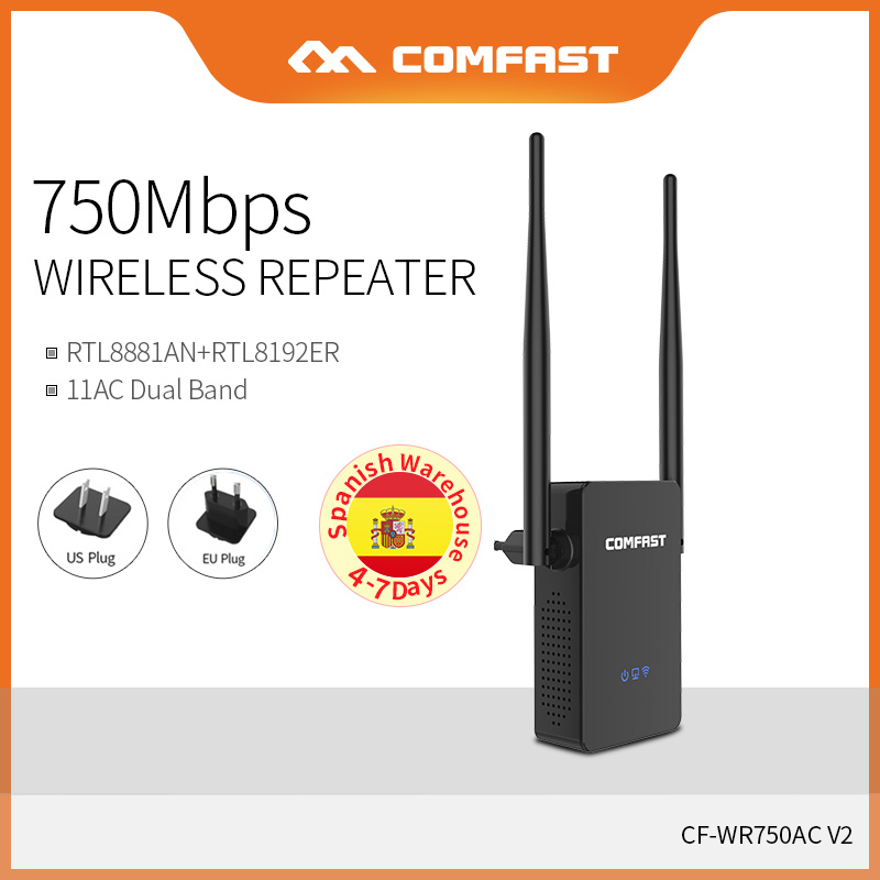 COMFAST WIFI Wireless Router Wifi-Extender 750mbps Repeater Amplifier Signal CF-WR750AC-V2