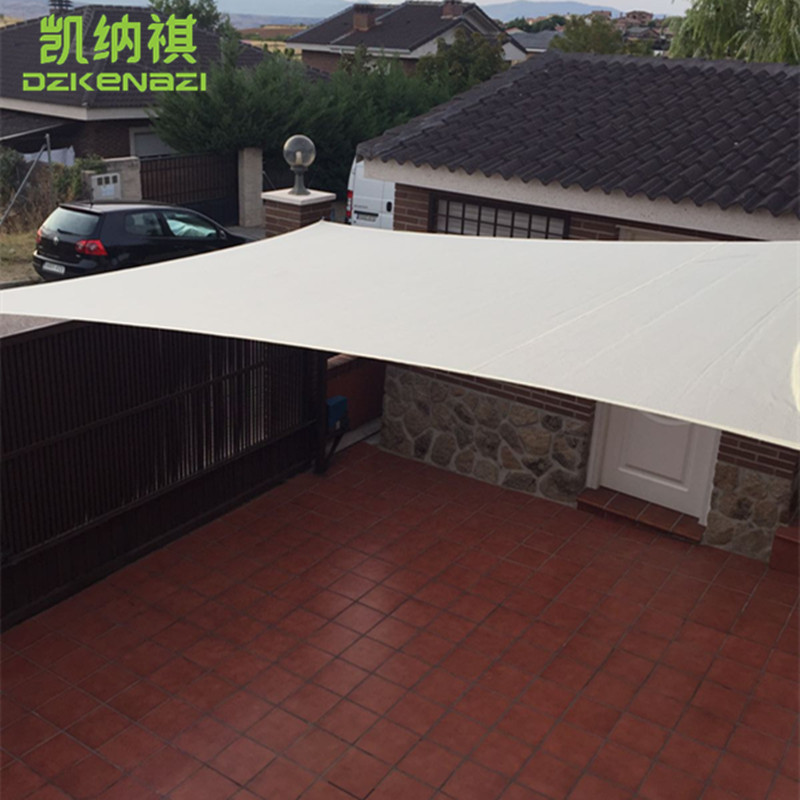 3.6 X 3.6 M/pcs Squre Sun Shade Sail Garden Patio HDPE UV Sunscreen Sail  With Ropes Factory Direct Wholesale