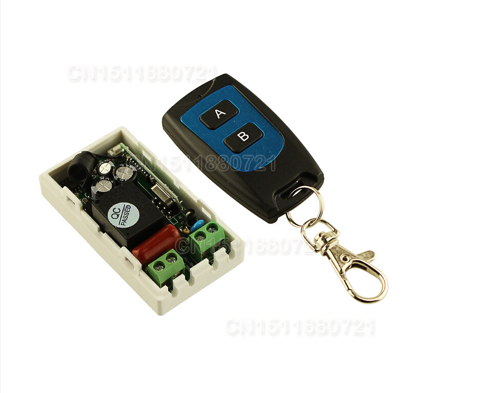 Best Price AC 220 V 1CH Wireless Remote Control Switch System Receiver Transmitter 2 Buttons Waterproof Remote 315mhz/433.92mhz ac 220 v 1ch wireless remote control switch system receiver wall panel remote transmitter sticky remote smart home switch