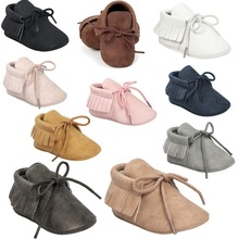 2017 Autumn/Spring Baby Shoes Newborn Boys Girls PU Leather Moccasins Sequin First Walkers 0-18M M2