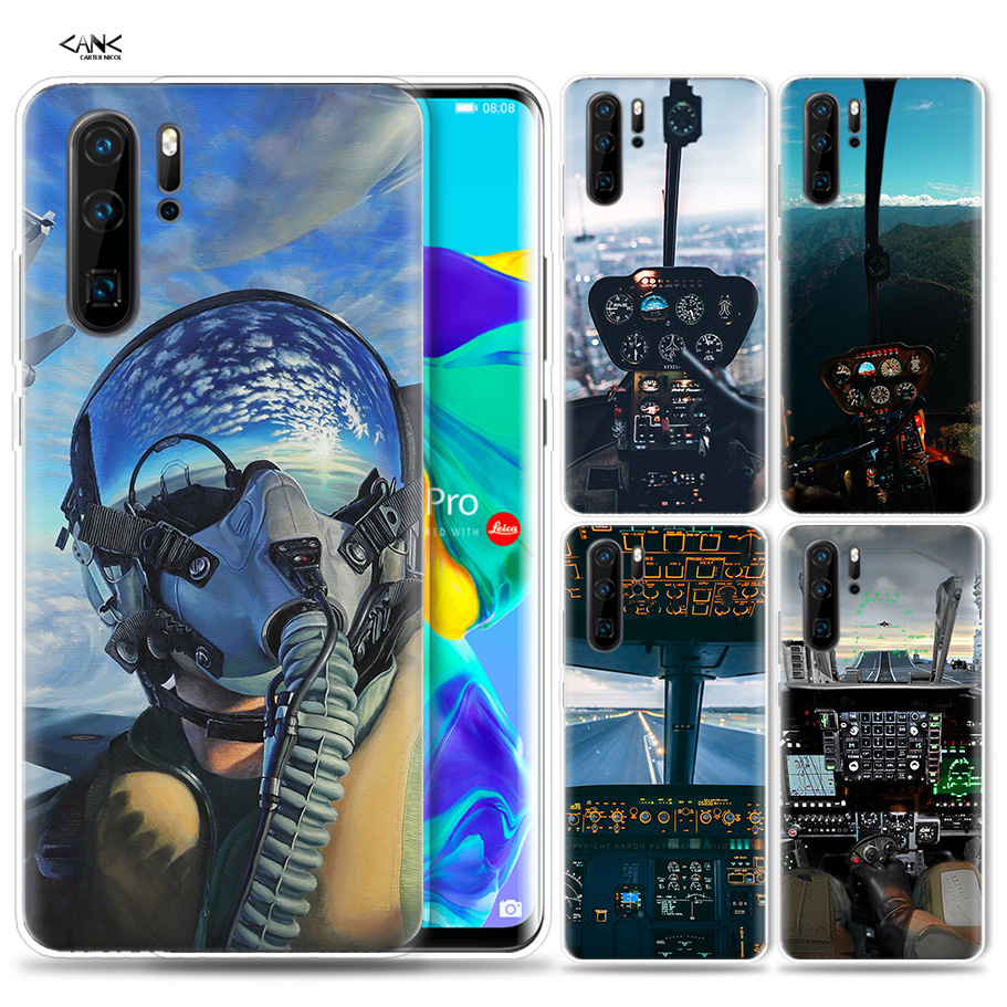 US $1 79 55% OFF|Case for Huawei P30 P20 P10 P9 Mate 10 20 Lite Pro Mobile  Cell Phone Bag P Smart Z 2019 Plus Cool Aircraft Airplane Cockpit P8 P-in