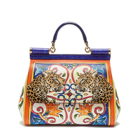 2018 new women handbag animal prints sicily isiland style shoulder messenger bag high quality lady brand evening crossbody bags