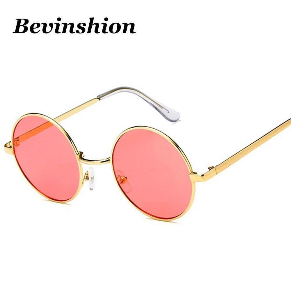 bcc2d04d44d ... Vintage Round Sunglasses Men Women Celebrity Hip-Hop Retro Sun Glasses  Transparent Yellow Lens Goggles ...