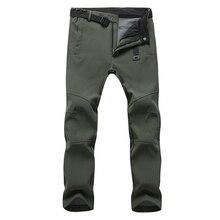 Mountainskin New Men's Winter Softshell Fleece Pants Outdoor Waterproof Hiking Camping Trekking Skiing Male Sport Trousers MA152