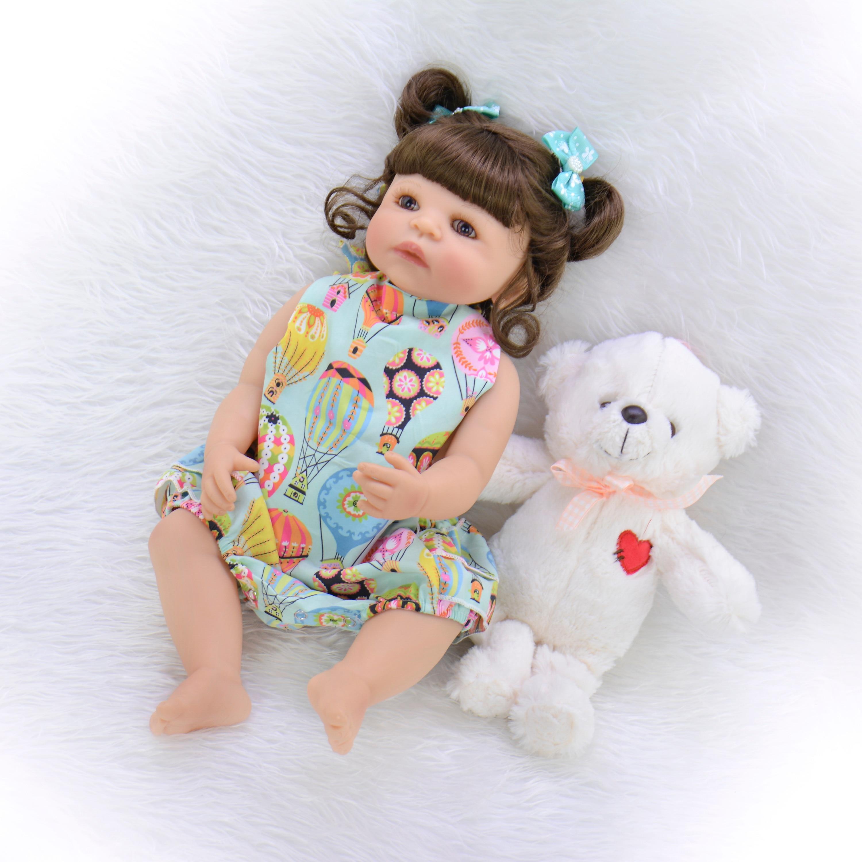 """22 """"55 ซม. ซิลิโคน Reborn Alive ตุ๊กตาอาบน้ำของเล่นวันเกิดของขวัญเด็กวัยหัดเดินตุ๊กตา Boneca house เล่น-ใน ตุ๊กตา จาก ของเล่นและงานอดิเรก บน   2"""