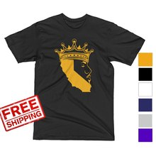 f9067795b 2018 New Men S Lebron James Crown Los Angeles Lakers LA T Shirt Tee MENS S-
