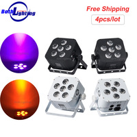 6*18w DMX 무선 배터리 전원 LED 파 빛 RGBWA + UV 6in1 색상 Led 워시 빛 DJ 조명 Uplights