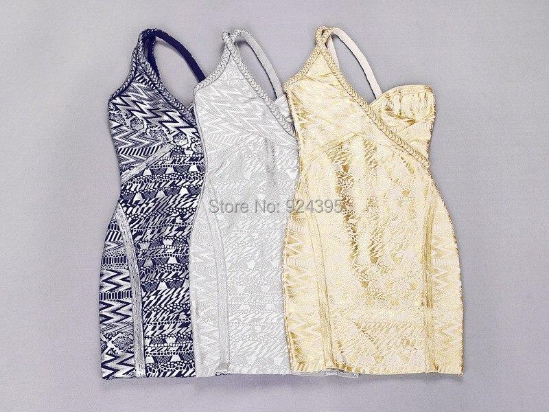 Бандажное платье без рукавов на одно плечо с золотым и серебряным принтом, сексуальное облегающее модное платье, 2 цвета, новинка, женское платье высокого качества HL