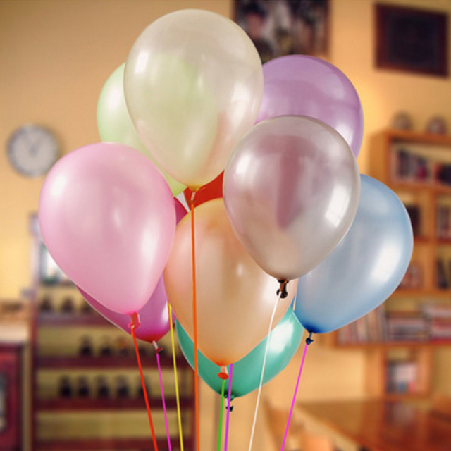 10ct Pearl Latex Balloons (21 Colors)