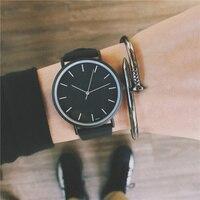 Модные Искусственная кожа Для мужчин s аналоговые кварцевые часы Blue Ray Для мужчин наручные часы 2018 Для мужчин s часы Топ Роскошные Брендовые