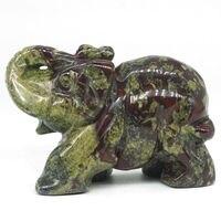 3Natural Dragon Blood Stone Elephant Carved Figurine Stone Chakra Healing Reiki Stone Feng Shui Crafts