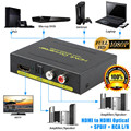 HD 1080P HDMI zu HDMI Optische SPDIF RCA L/R Extractor Konverter Audio Splitter Hdmi Konverter Adapter für PS3 Computer HDTV HDMI-Kabel Verbraucherelektronik -