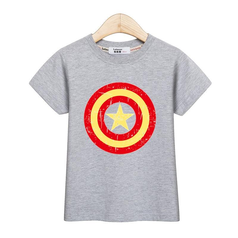 7b4f06efb8 Kids 3D Shield Hero Clothing Baby Boys Captain America T Shirt Short Sleeve  Cotton Girl Tops Tee Casual Shirt Children Clothes