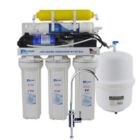 6 Stage Residential Under Sink Reverse Osmosis Drinking Water Filtration System With Remineralization Filter 50GPD