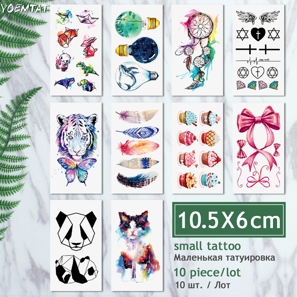 10 Pcs/ Lot Waterproof Temporary Tattoo dreamcatcher 1