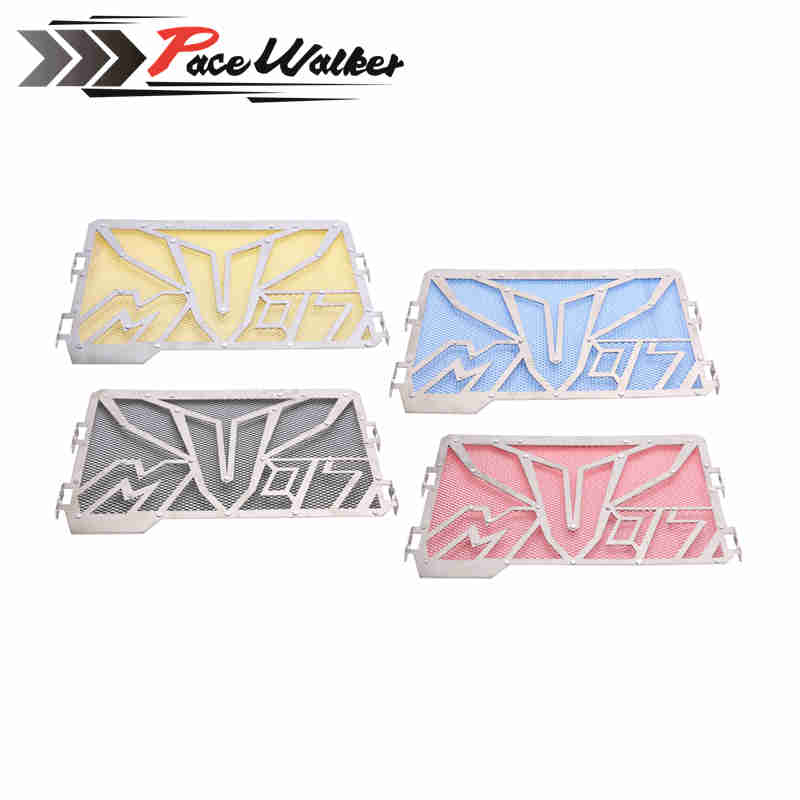 FREE SHIPPING Stainless Steel RADIATOR GUARD COVER Grill Protector Fit For YAMAHA MT-07 MT07 MT 07 motorcycle radiator protective cover grill guard grille protector for kawasaki z1000sx ninja 1000 2011 2012 2013 2014 2015 2016