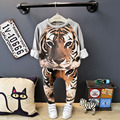 New  Toddler Boys Clothing Print pullover and pants  Boy Clothes  Jongens Kleding Kids Clothes 6BSET015