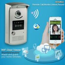 Teléfono de la puerta de intercomunicación inalámbrica wifi android timbre de intercomunicación ip android video wireless teléfono de la puerta visor de la cámara de visión nocturna