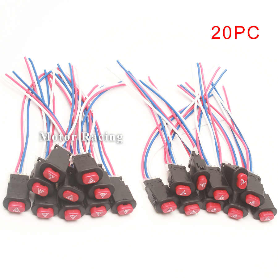 uxcell Universal Motorcycle Dual Flashing Warning Switch Button Controller Replacement 20 Pcs