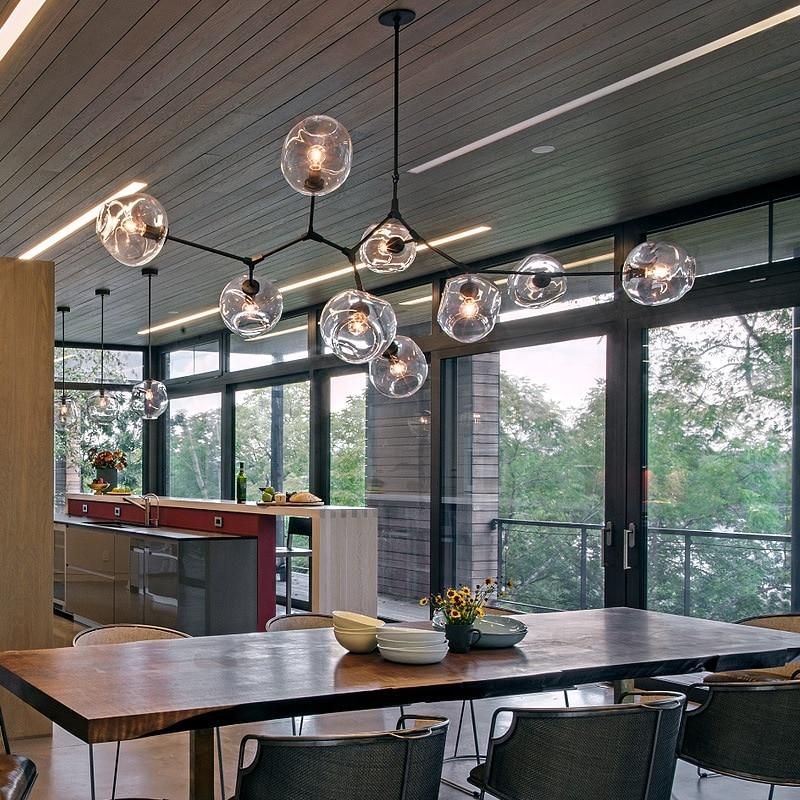 3//5//6//7//8//9 Lights Molecular Glass Pendant light Chandeliers suspension lamp