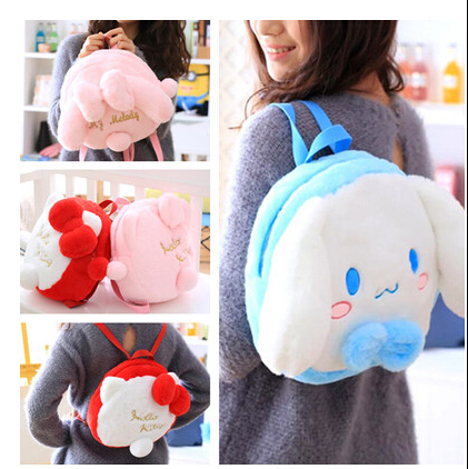 bf73541140fe5 1 adet 26 cm yaratıcı yumuşak my melody hello kitty cat beyaz köpek peluş sırt  çantası