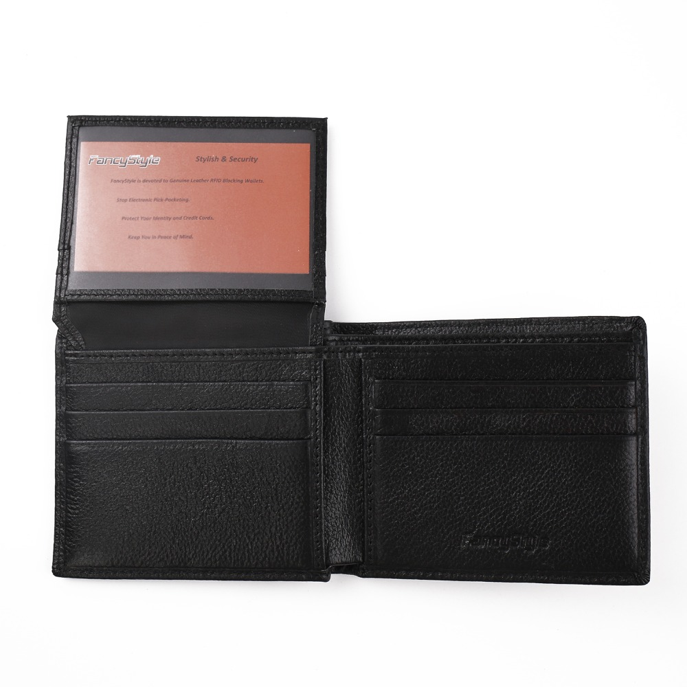 FancyStyle Anti Theft Men's Genuine Leather RFID Safe