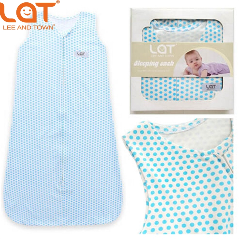 Free shipping LAT 100 Jersey Cotton Baby Sleeping Wear Newborn Baby Sleeping Bag Bed Swaddle Blanket Wrap Bedding Cute Sleepsack