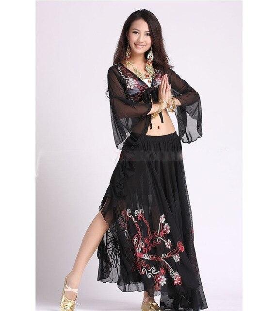 43d98feae00f Oriental costume di Danza Costumi Abbigliamento Danza Del Ventre Set  Indiano Danza Accessori di Abbigliamento Professionale