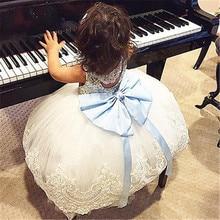 Fille Robe 2017 Sans Manches Kid Robes Filles Vêtements Parti Princesse Robes Nina 6 7 8 année d'anniversaire Robe De Noël baptême