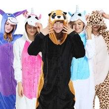 Flannel Pajamas Adults Cosplay Cartoon Cute Animal raccoon Onesies Pyjama Sets Sleepwear Coon Pajamas Women