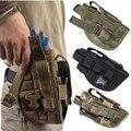 MOLLE Tactical Gota Perna Coxa Pistol Gun Holster tatico 1000D nylon militar do exército paintball arma de Liberação Rápida pendurado manga perna