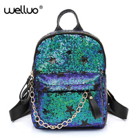 Designer Backpacks Women Bag 2017 Fashion Sequins Backpacks Knapsack For Ladies Elegant Travel Backpack Girls School