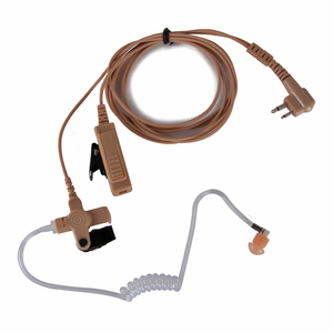 Image 2 - עבור שני בדרך מוטורולה GP88 M תקע אוזניות צינור אוויר אוזניות אוזניות עם ptt לcp040, CP200, GP300, מכשיר קשר רדיו GP88.