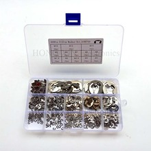 цена на 400pcs DIN6799 304 Stainless Steel Circlip Sack Retainer E E-type Buckle-shaped Split Washers M1.5/2/2.5/3/4/5/6/7/8/9/10/12/15