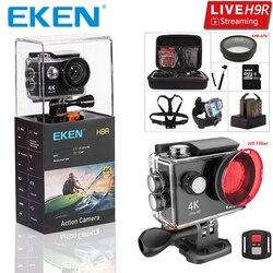 Оригинальный eken H9 H9R со сверхвысоким разрешением Ultra HD, 4K 30fps экшн Камера с водонепроницаемым чехлом и возможностью погружения на глубину до ...