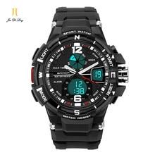 Моды для Мужчин Спортивные Часы Цифровой Ударопрочные Кварцевые Наручные Часы Водонепроницаемые Часы Бесплатная Доставка