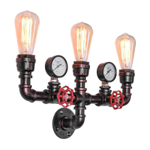 Retro 2/3 Heads Rust Iron Wall Lamp Nostalgic Industrial Wind Water Pipe E27 Aisle Wall Light For Restaurant Bar Apartment Cafe nordic vintage edison barn lantern iron kerosene lamp oil wall light aisle industrial cafe bar hall club store restaurant