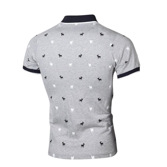 Fuy Bill Summer New Fashion Brand Polo Mens Printed POLO Shirts Cotton Short Sleeve Polo Casual Stand Collar Polo Shirt for Male