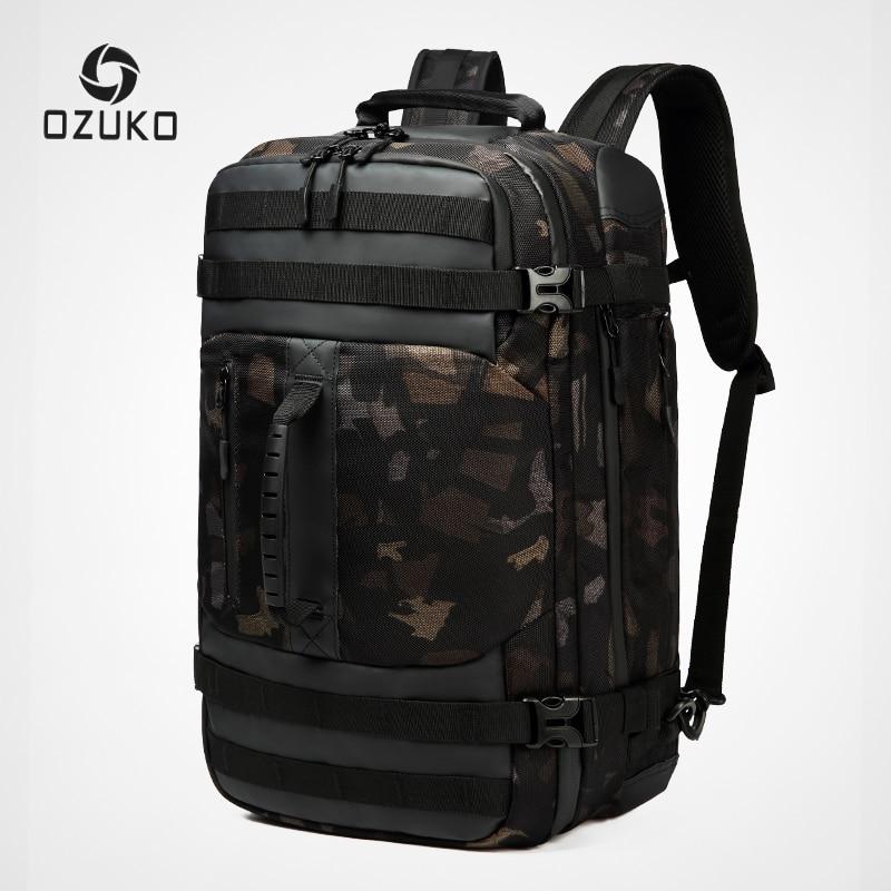 OZUKO 2019 New Man Backpack Multifunction 15inch Laptop Men Backpacks Large Capacity Fashion Male Mochila Waterproof Travel Bag