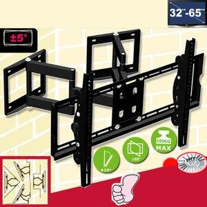 """Image 1 - 32 65"""" Heavy Duty Wall Corner LED LCD TV Mount Flexible Full Motion TV Swing Arm Bracket Ceiling Mount Load 100kgs EMP522MT"""