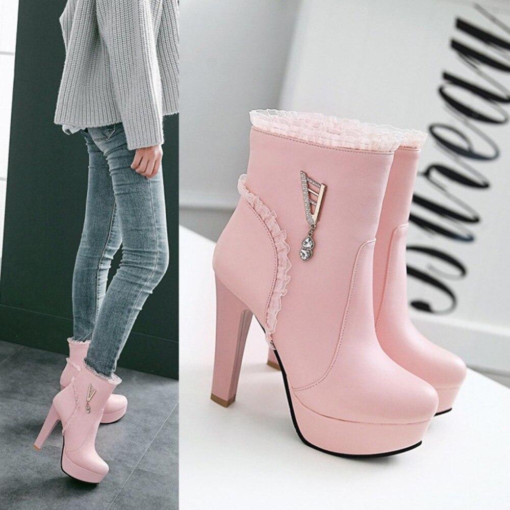 Talon Les pink 43 Milagoji Filles Bottes Beige Super Mode white black forme  2018 Chaussures Talons Haute ... 72766d6571f0
