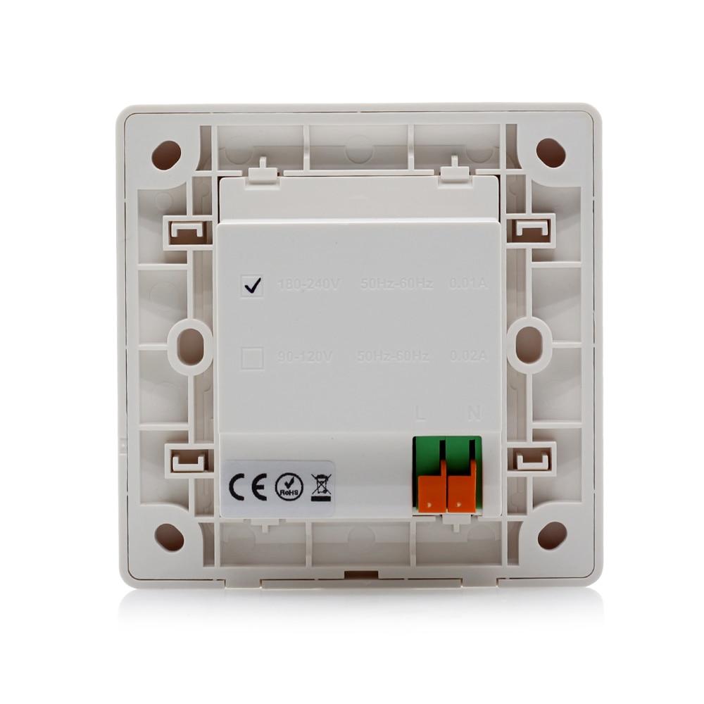 Mi.Light PIR Infrared Motion Sensor Switch AC180 240V 50Hz Wall Type ...