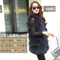 BIG SALE FREE SHIPPING all real photos 14 color in stock hot new  fox fur long natuax fox fur gilet winter Jackets