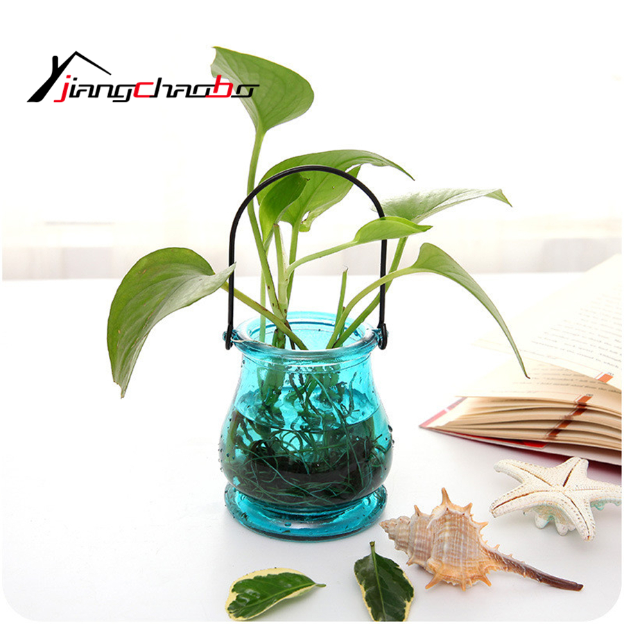 DIY Hydroponic Plant Flower Hanging Glass Vase Container Home Garden ...