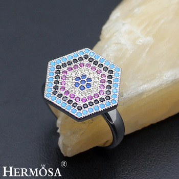 Hermosa 925 Sterling Silver Jewelry NANO Wedding Ring Queen Designer Party Prom GIFT Free Shipping Size 7