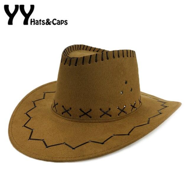 Sombreros de vaquero para las mujeres con los campos sombreros mujer  occidental para hombre americano sombrero c557e1ee13f