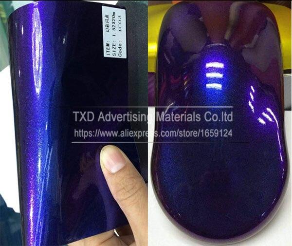 Премиум качества 3 слоя глянцевый Хамелеон Алмазный Блеск для винилового Обёрточная бумага пленка без воздушных пузырьков Размеры: 10/20 Вт, 30 Вт/40/50/60x152 см - Название цвета: Dark blue