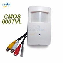 HQCAM CMOS Color 600TVL CCTV security Camera Motion Detector PIR Indoor CCTV Mini cmos camera PIR Surveillance Camera microphone