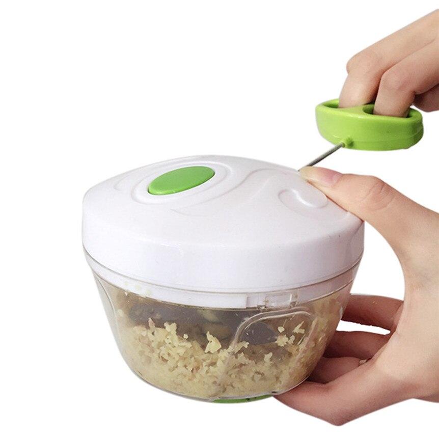 Meat Etc. Mini Hand Chopper Manual Food Processor Pull String to Onions Garlic