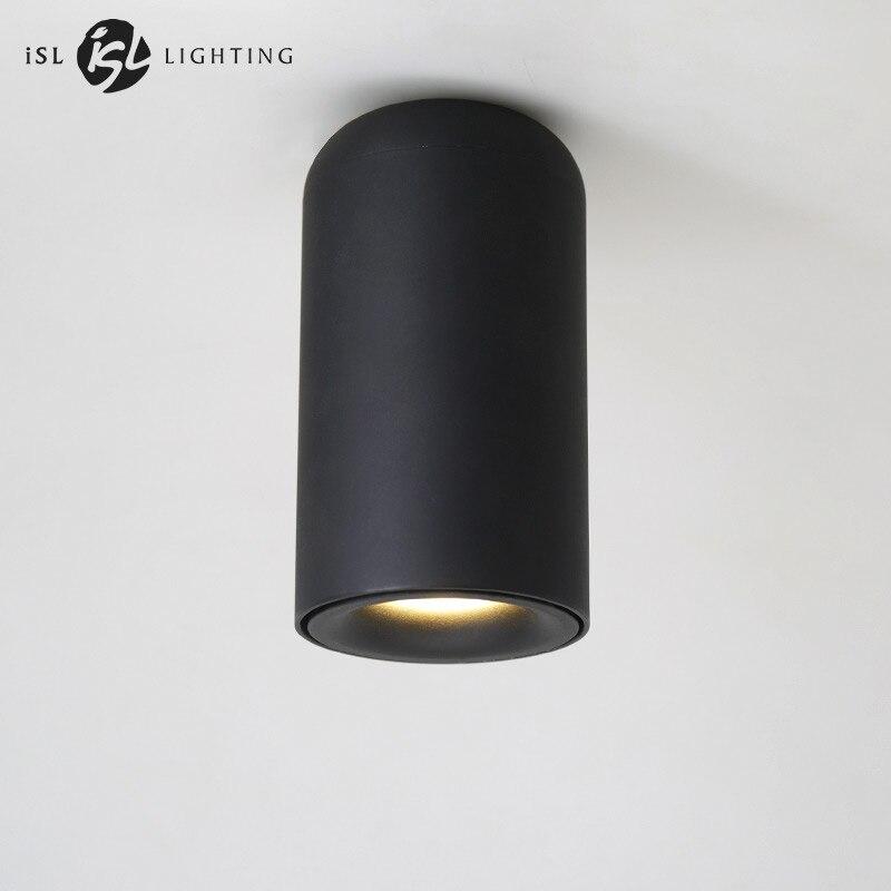 ISL Nordique LED Downlight Surface Monté Plafond Lampes AC85-260V Blanc/Tache Noire lumière pour Salon Chambre Couloir Bureau